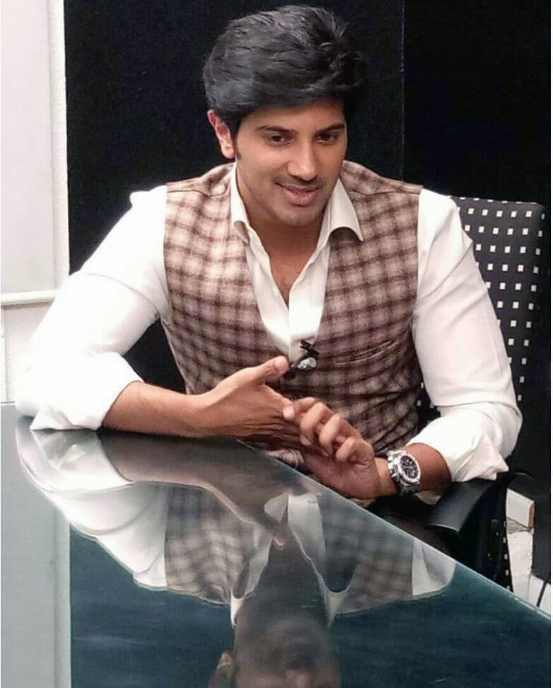 Dulquer Salmaan during the promotions of 'Mahanati'