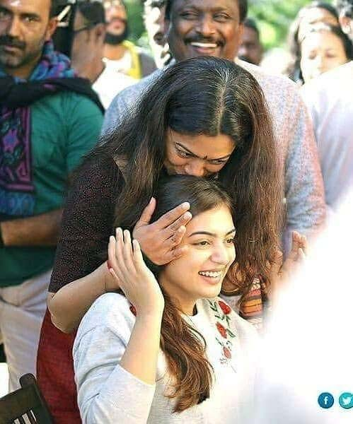 Anjali Menon Nazriya at Koode Film Location