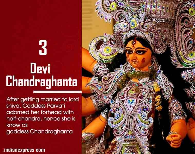 Navratri, Chandraghanta, ie malayalam