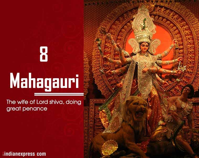 Navratri, Mahagauri, ie malayalam