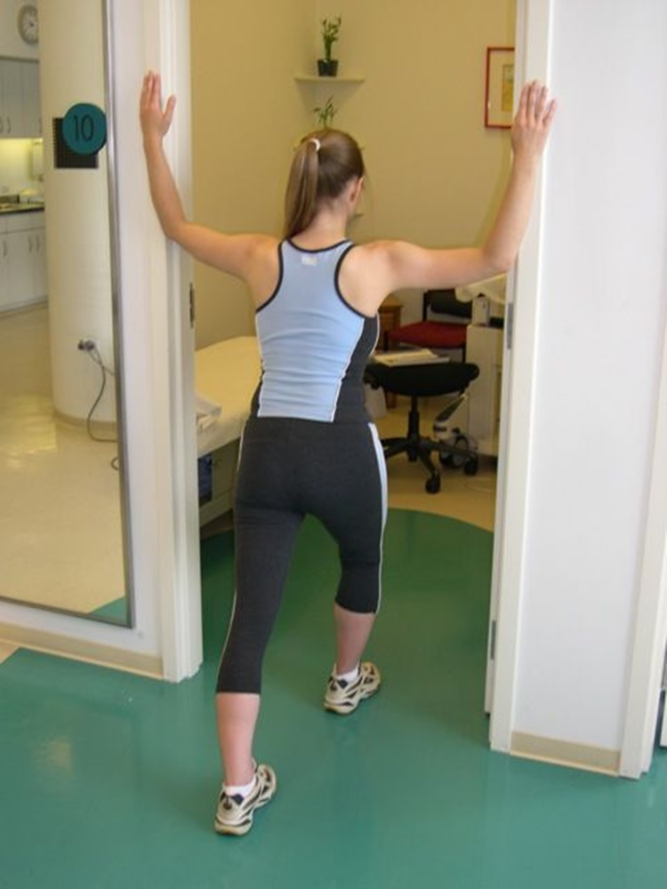 stretching exercise door stretch