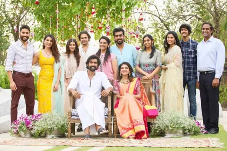 rana daggubati engagement, rana daggubati, റാണ ദഗ്ഗുബാട്ടി, മിഹീഖ ബജാജ്, miheeka bajaj, rana daggubati roka, roka function, rana daggubati roka function, naga chaitanya samantha rana engagement, chaysam photos rana engagement, rana daggubati engagement photos, rana daggubati girlfriend, rana daggubati photos, miheeka bajaj photo, Indian express malayalam, IE malayalam