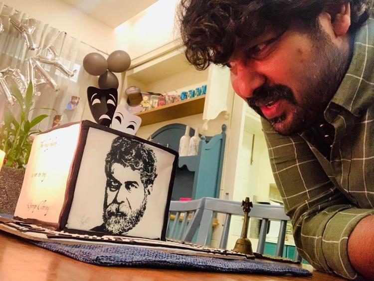 joju george, joju george birthday cake